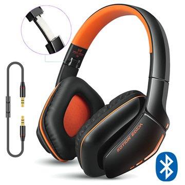 Kotion Each B3506 Bluetooth Trådløse Hodetelefoner - Svart/Oransje