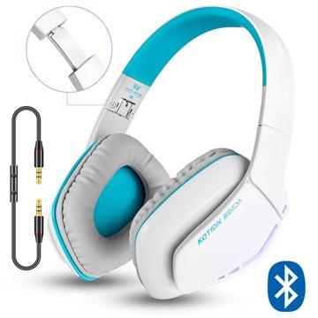 Kotion Each B3506 Bluetooth Trådløse Hodetelefoner - Hvit/Blå