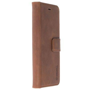 Huawei P10 Plus Krusell Sunne 5 Card Lommebok-deksel I Lær - Brun