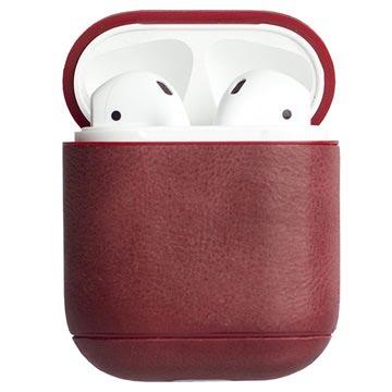 Krusell Sunne Apple AirPods Lærveske - Vintage Rød