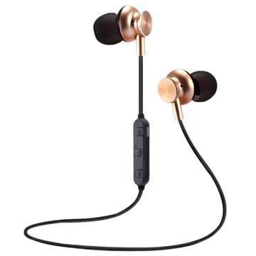 M6 Magnetiske Bluetooth I-ørene Trådløse Hodetelefoner - Gull