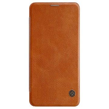 Nillkin Qin Huawei Honor Note 10 Flip-deksel med Kortholder - Brun