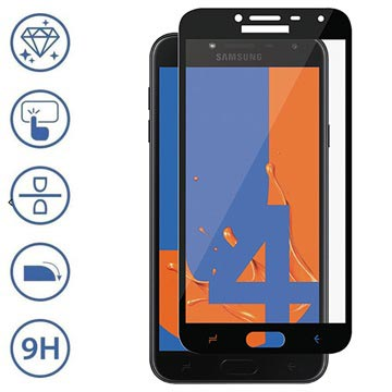 Panzer Premium Full Fit Samsung Galaxy J4 Skjermbeskytter - Svart