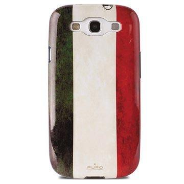 Samsung Galaxy S3 I9300 Puro Deksel - Italias flagg