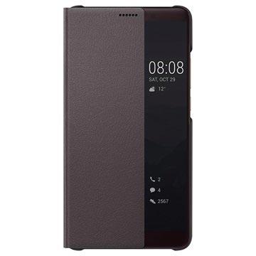 Huawei Mate 10 Smart Side Window Flip-deksel - Brun
