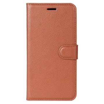 Huawei Honor 9 Textured Lommebok-deksel - Brun