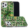 Marble Pattern Electroplated IMD iPhone 12 Pro Max TPU-deksel