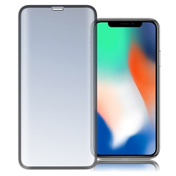 iPhone X/XS/11 Pro 4smarts Curved Glass Skjermbeskytter - Svart