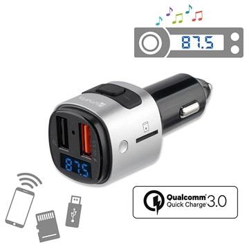 Fantastisk 4smarts Media&Assist Bluetooth FM-sender & Hurtigbillader - Svart XS52