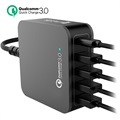 4smarts VoltPlug QC 3.0 Multiport Dockingstasjon - Type-C & 4 USB - 40W