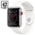 Apple Watch Series 3 LTE MQLY2ZD/A - Rustfritt Stål, Sport Band, 42mm, 16GB