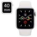 Apple Watch Series 5 GPS MWV62FD/A - Aluminium Urkasse, Sport Band, 40mm - Sølv