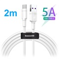 Baseus DZ-SMT Double-ring SuperCharge USB-C Kabel - 5A, 2m - Hvit