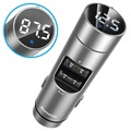 Baseus Energy Column QC3.0 Billader / Bluetooth FM-sender - Sølv