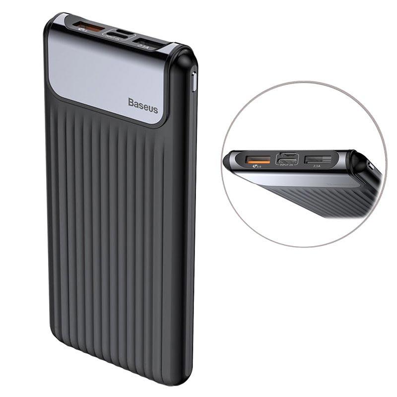 Baseus Thin Digital 10000mAh QC 3.0 Dobbel USB Powerbank