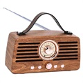 Creative Retro FM Radio Bluetooth-høyttaler - Brun
