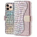 Croco Bling iPhone 11 Pro Max Lommebok-deksel