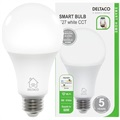 Deltaco SH-LE27W WiFi Smart LED Pære - 9W - Hvit