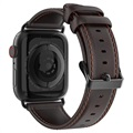 Dux Ducis Apple Watch Series 5/4/3/2/1 Lærrem - 42mm, 44mm - Kaffe