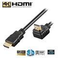 Goobay High Speed HDMI-kabel med Ethernet - 90° Vinkel