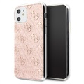 Guess 4G Glitter Collection iPhone 11 Deksel - Rosa