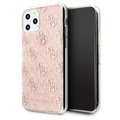 Guess 4G Glitter Collection iPhone 11 Pro Max Deksel - Rosa