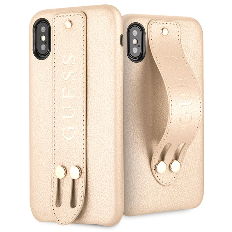 Guess Saffiano Strap iPhone X / iPhone XS Deksel