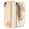 Guess Saffiano Strap iPhone XR Deksel - Beige