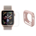 Hat Prince Apple Watch Series 5/4 Full Beskyttelsessett - 40mm - Rosa