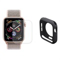 Hat Prince Apple Watch Series 5/4 Full Beskyttelsessett - 44mm - Svart