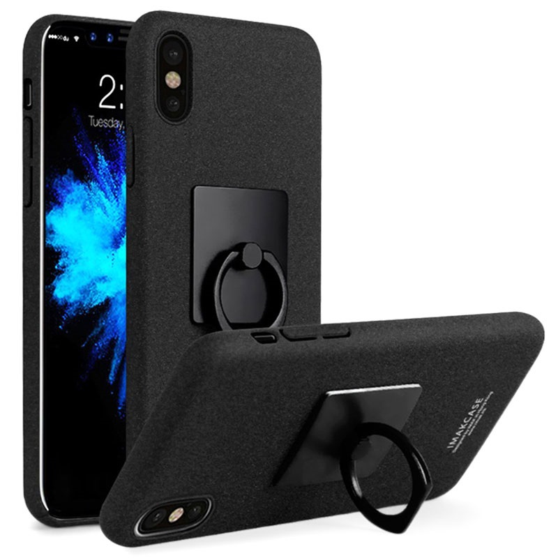 Iphone x imak ring deksel med skjermbeskytter svart - Deksel x ...