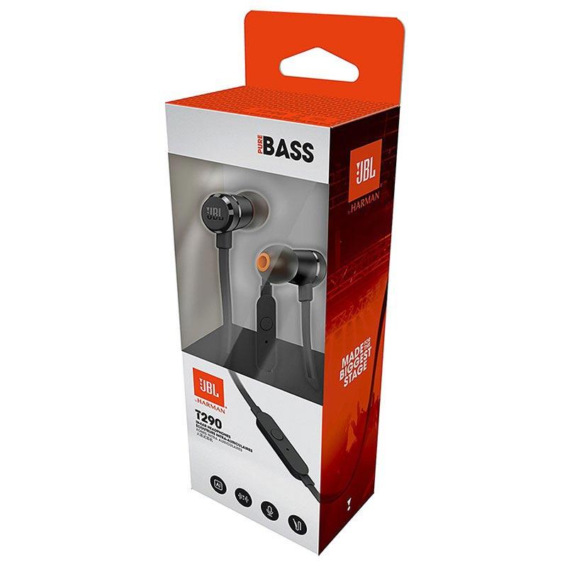JBL T290 Pure Bass I ørene Hodetelefoner med Mikrofon