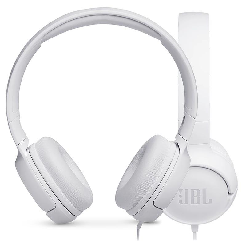 9dc249af7 JBL Tune 500 PureBass On-Ear Hodetelefoner - Hvit