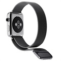 Apple Watch Series 5/4/3/2/1 Magnetisk Milanese Reim - 44mm, 42mm - Svart