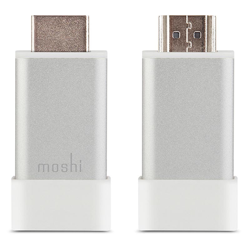 Moshi HDMI til VGA Adapter med 3.5mm Audio - Sølv / Hvit