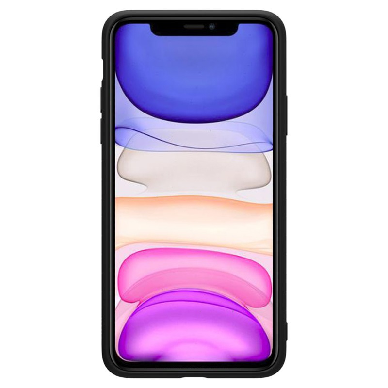 Nillkin Rubber Wrapped iPhone 11 TPU-deksel - Svart
