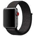 Apple Watch Series 5/4/3/2/1 Nylon Reim - 44mm, 42mm - Svart