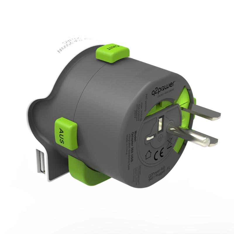 Q2Power QDAPTER Universell USB Verden Reiseadapter - 10A