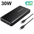 RAVPower 20100mAh PD Type-C Powerbank / USB-hub - 30W