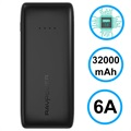 RAVPower Ace Trippel USB Powerbank - 32000mAh - Svart