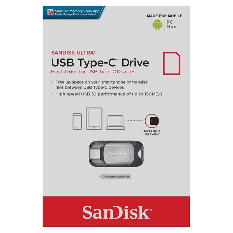 SanDisk Ultra USB Type C Minnepenn