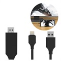 SiGN HDMI / Lightning Kabel til iPhone/iPad - 2m - Svart