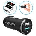 Spigen F27QC Quick Charge 3.0 Billader - 2xUSB, 5.4A - Svart