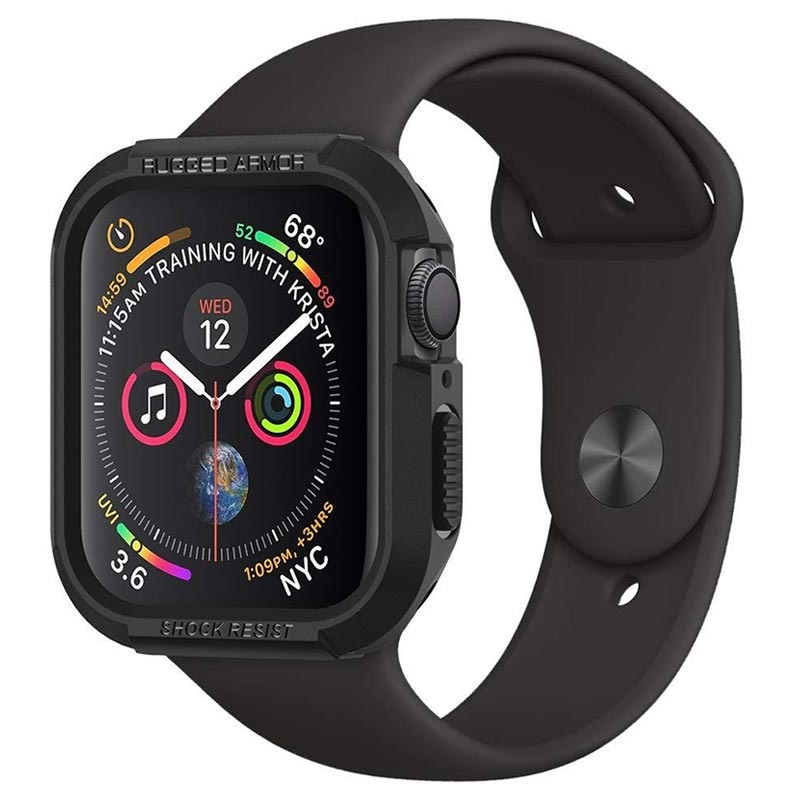 Spigen Rugged Armor Apple Watch Series 5/4 TPU-deksel - 40mm - Svart