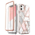 Supcase Cosmo iPhone 11 Hybrid-deksel - Rosa Marmor