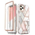 Supcase Cosmo iPhone 11 Pro Max Hybrid-deksel - Rosa Marmor