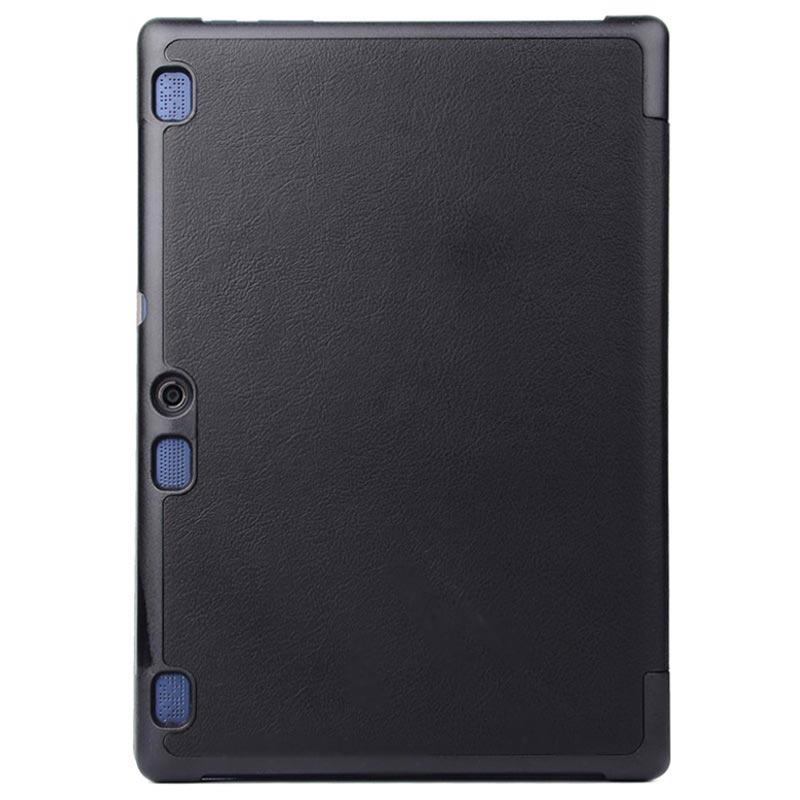Svart Tri Fold Veske med Stativ til Lenovo Tab 2 A10 70