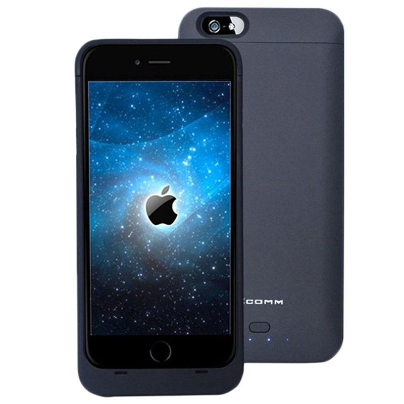 iphone 6 plus 6s plus xcomm backup batteri etui svart. Black Bedroom Furniture Sets. Home Design Ideas