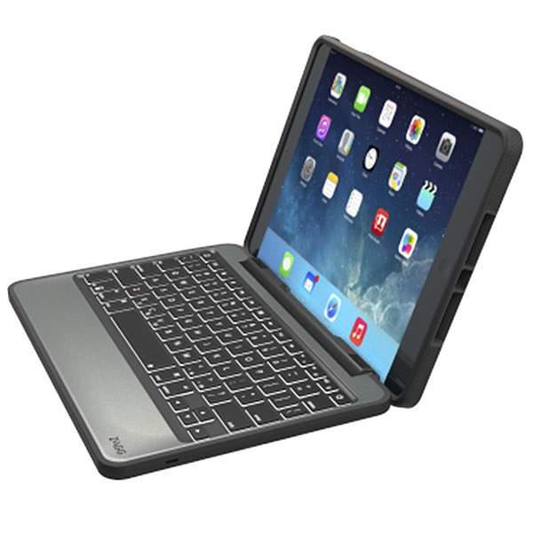Ipad Air 2 Zagg Rugged Book Bluetooth Tastatur Veske