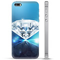 iPhone 5/5S/SE TPU-deksel - Diamant